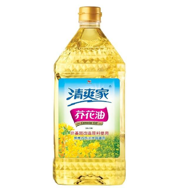 【統一清爽家】芥花油2L/瓶(健康安心的好油)