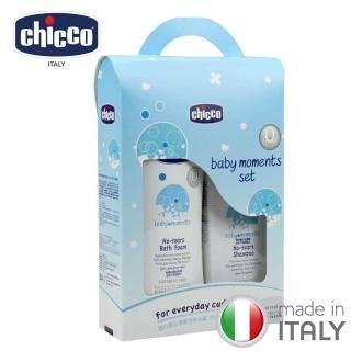 【chicco】寶貝嬰兒潤膚泡泡浴露750ml(超值組)
