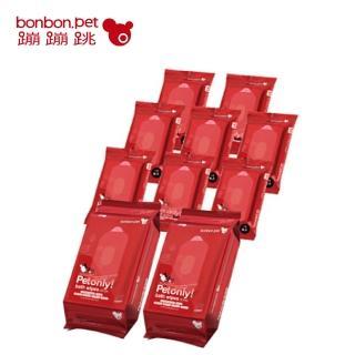 【bonbonpet】寵物濕紙巾(無香隨身包8入+青草香家庭號2入)