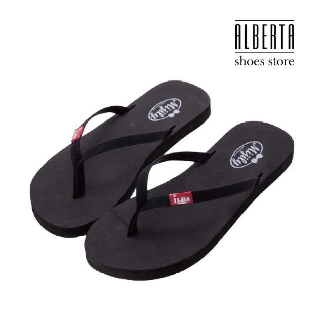 【Alberta】简约设计麂皮质感 舒适不伤趾缝 好穿脱人字拖鞋 小厚底夹脚拖鞋(紫色)