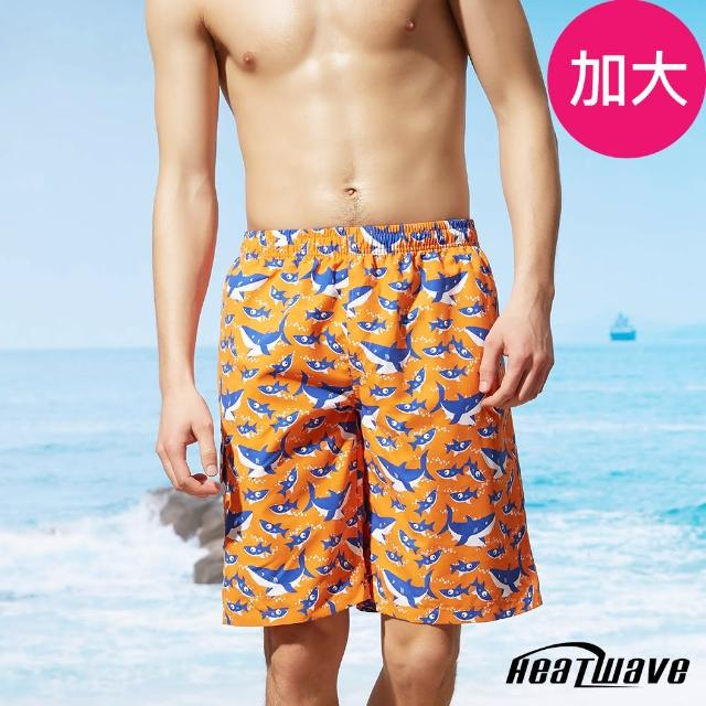 【Heatwave 熱浪】加大男海灘褲-橘陽鯊(A201)