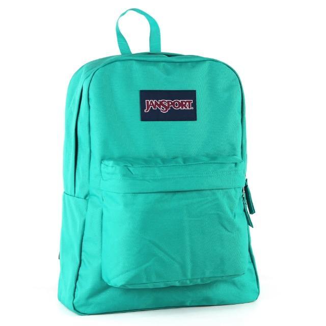 【JanSport】校園背包-SUPER BREAK(孔雀藍)