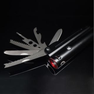 【EZlife】多功能工具刀強光手電筒套組