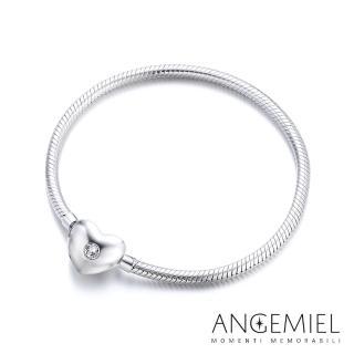 【Angemiel 安婕米】義大利珠飾 925純銀手鍊(愛心款)