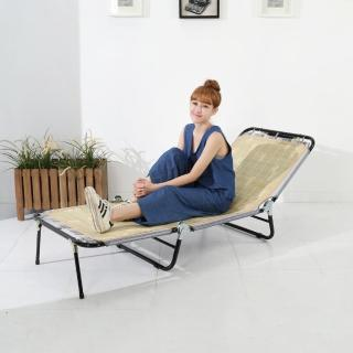 【BuyJM】五段式三折蓆面包邊折疊床/躺椅