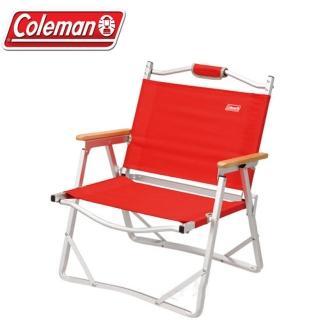 【美國 Coleman】輕薄摺疊椅.鋁合金休閒椅.折疊椅.導演椅.折合椅.野餐椅.露營椅(CM-7670 紅)