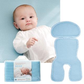 【奇哥】立體超透氣嬰兒床墊+推車汽座涼墊