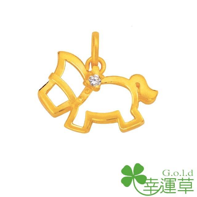 【幸運草clover gold】先馳得點 鋯石+黃金 彌月黃金墜