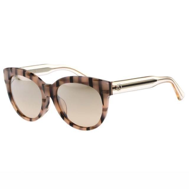 【GUCCI】-廣告款 時尚 太陽眼鏡(粉色)