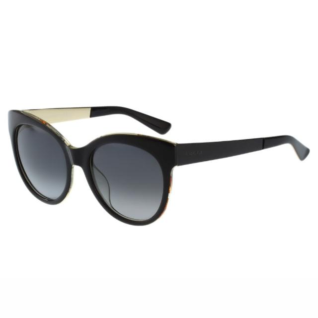【GUCCI】-花卉絲巾 太陽眼鏡(黑色)