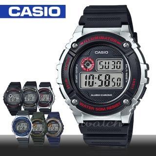【CASIO 卡西歐】日系-復古風格-電子錶(W-216H)