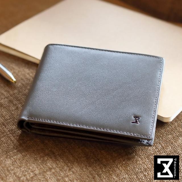 【74盎司】Plain 真皮横式短夹_零钱袋(N-499)
