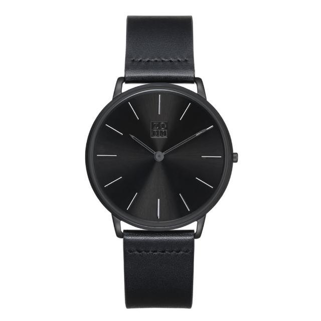 【ZOOM】THIN 極簡超薄腕錶(黑 /42mm)