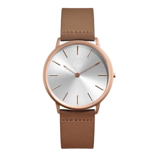 【ZOOM】THIN 極簡超薄腕錶(玫瑰金 /42mm)