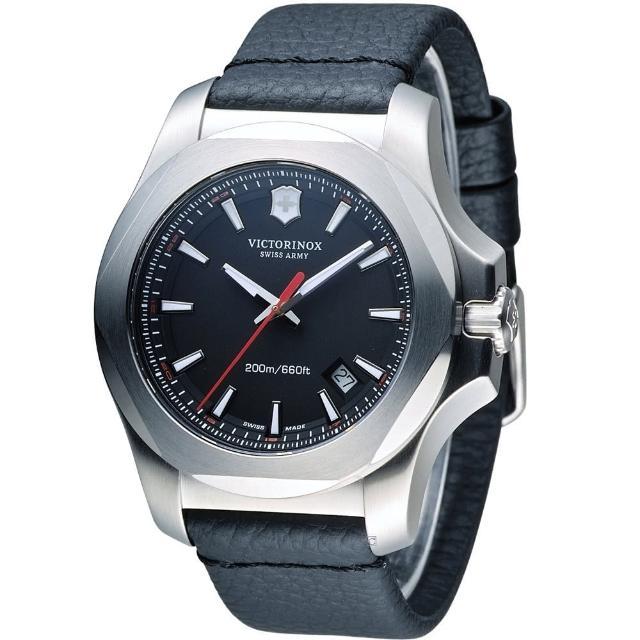 【Victorinox 維氏】INOX 軍事標準皮革腕錶(VISA-241737)