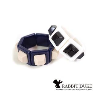 【RD 兔子公爵】經典歐美風格 個性大方塊鉚釘排列設計手環