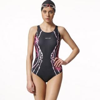 【SAIN SOU】競賽/泳隊/專業用大女連身三角泳裝(加贈矽膠泳帽A97508)