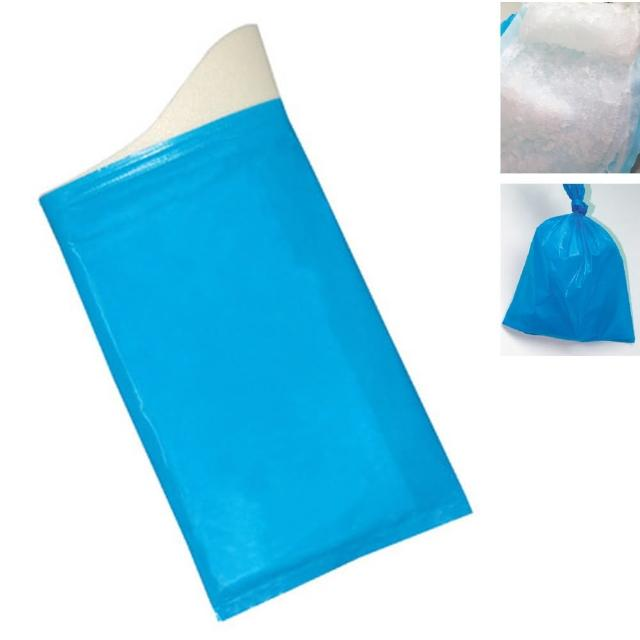 【PUSH! 戶外休閒用品】方便攜帶型尿袋集尿袋移動廁所(8入1組 J22)