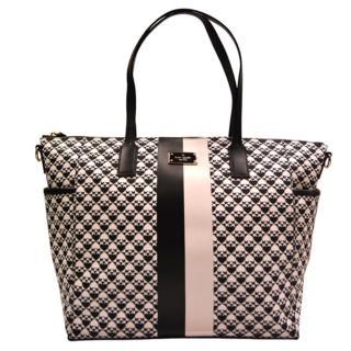 【KATE SPADE】紐約賓夕法尼亞大容量黑白相間手提包