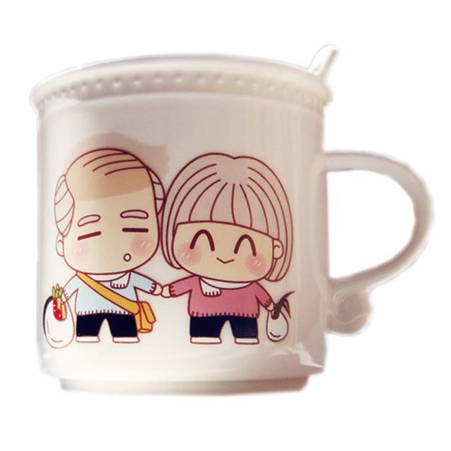 【iSFun】甜蜜情人*變色馬克杯/附湯匙