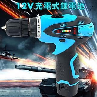 【威力鯨車神】12V雙速充電式鋰電池電鑽組 37件豪華大全配(加贈打蠟拋光工具組)
