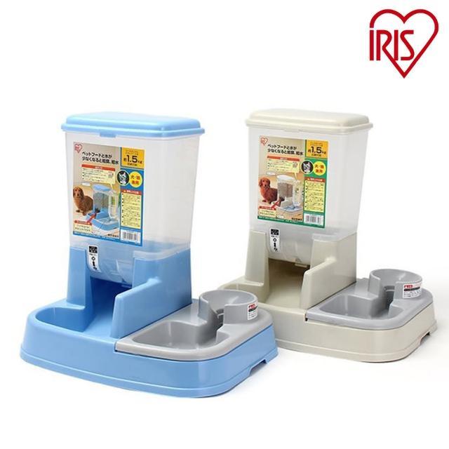 【日本IRIS】兩用 自動給食飲水器-JQ-350(貓狗適用-米白)