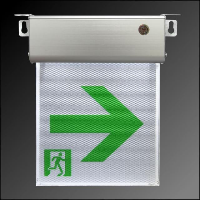 【台灣製】小型1:1LED避難方向燈右向(9312)