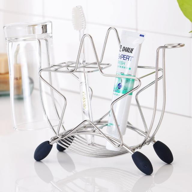 【樂活主義】獨家設計不鏽鋼星型牙刷杯架