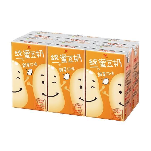 【統一】蜜豆奶雞蛋口味250ml 6入/組