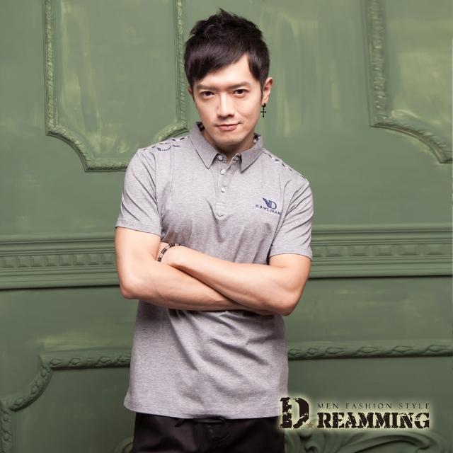 【Dreamming】英倫紳士萊卡彈力短POLO衫(共二色)