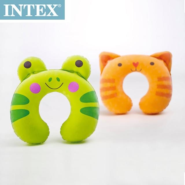 【INTEX】充氣護頸枕-動物造型隨機出貨(68678)