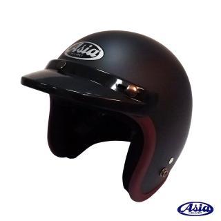 ~ASIA~A706 精裝素色寬條安全帽^(平黑 紫^)