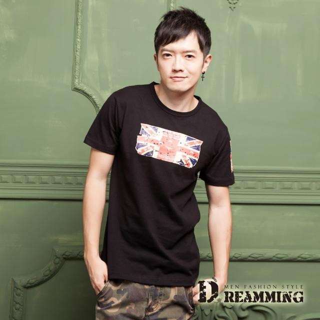 【Dreamming】型男英式旗標印花圓領短T(共三色)