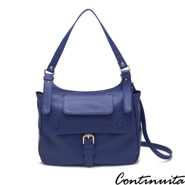 【Continuita 康緹尼】古典騎士包(藍色)