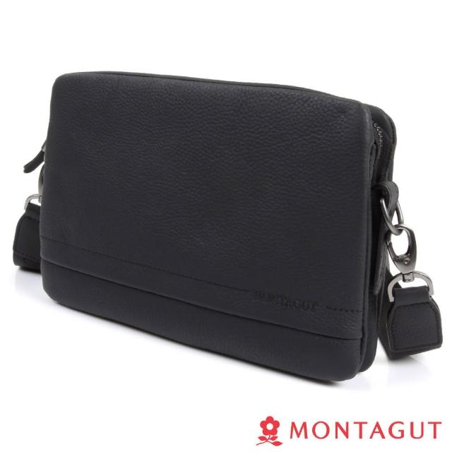 【MONTAGUT夢特嬌】100%頭層牛皮側背包-中(牛皮/斜背包)