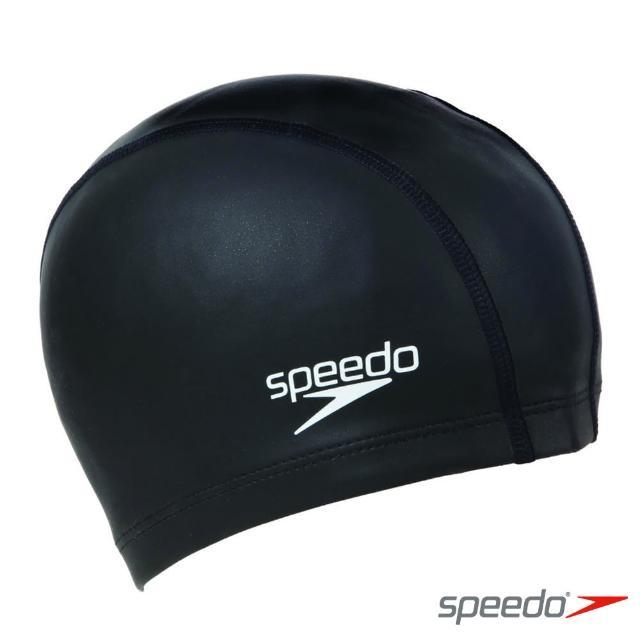 【SPEEDO】成人 合成泳帽 Ultra Pace(黑)
