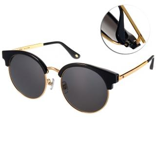 【Go-Getter 太陽眼鏡】韓版時尚眉圓框款(黑-金#GS4005 C01)