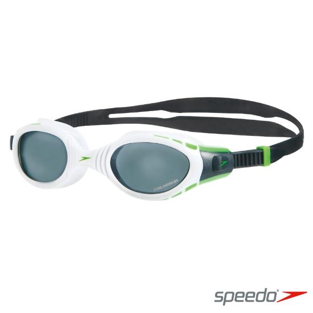 【SPEEDO】成人進階偏光泳鏡 Futura Biofuse Polarised(白-灰)