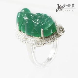 【金郁豐】福運天然A級翡翠藍寶貔貅戒指