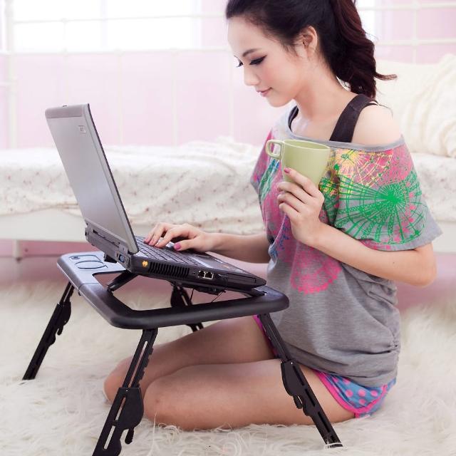 【WASHAMl】台灣專利M363839雪狐多功能折疊電腦桌(黑色/白色)