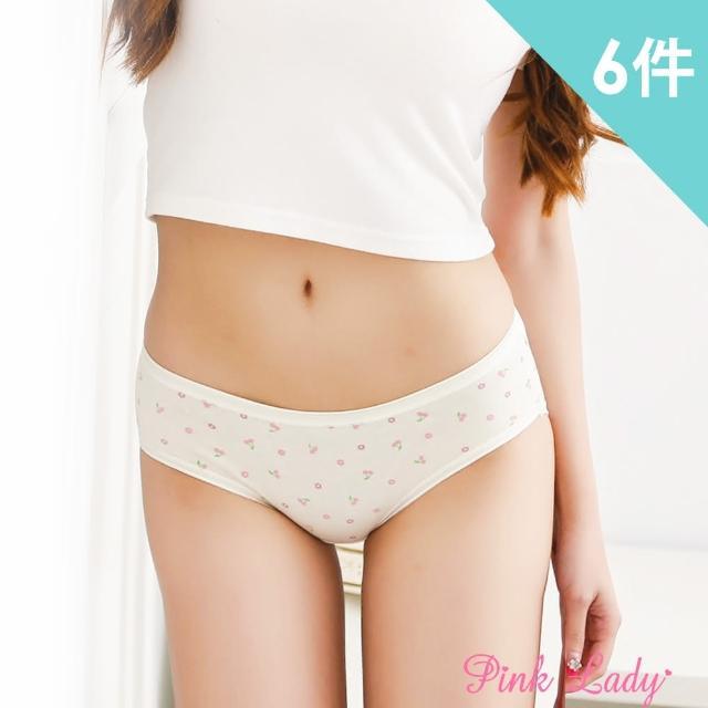 【PINK LADY】低腰小花櫻桃粉嫩防水生理褲533(6件組)