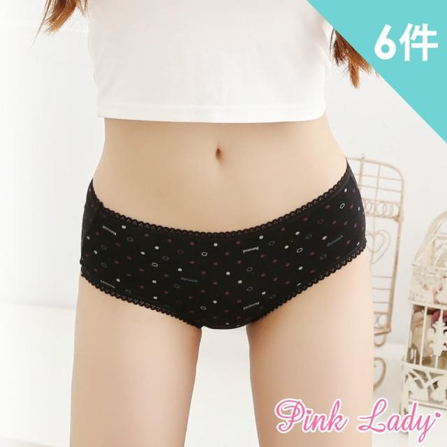 【PINK LADY】繽紛氣泡 低腰防水生理褲13108(6件組)
