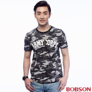 ~BOBSON~男款迷彩印圖上衣 25014~42
