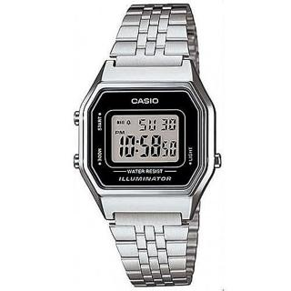 【CASIO】方格普普風數位運動錶(LA-680WA-1)