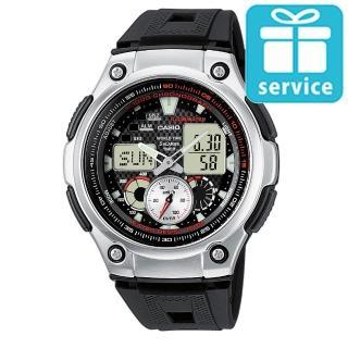 【CASIO】全新特級城市風格雙顯錶(AQ-190W-1A)