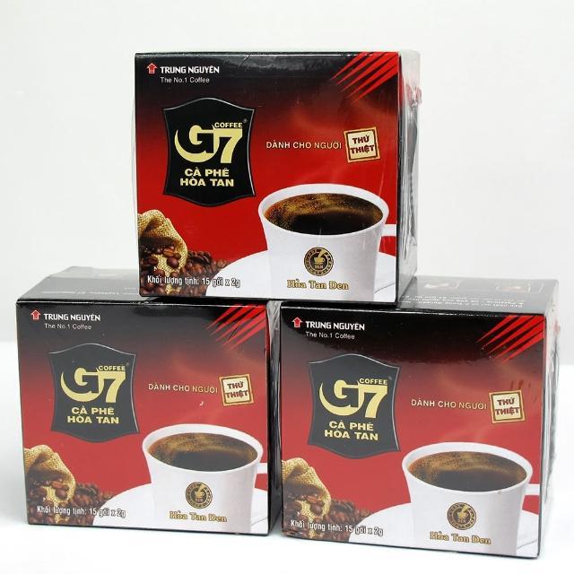 【蘋果市集】越南G7 黑咖啡(2公克*15包)