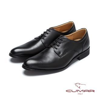 【CUMAR】核心氣墊 MIT真皮紳士鞋(黑色)
