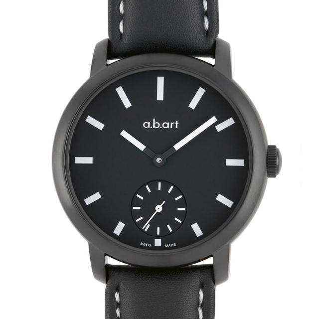 【a.b.art】MM系列 夜光手上鍊動力儲存機械腕錶-黑/46.5mm(abart-MM151)