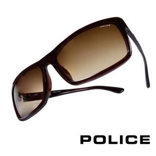 【POLICE】義大利警察都會款個性型男眼鏡-膠框(琥珀-POS1883-0958)