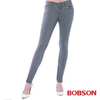 ~BOBSON~女款超低腰.強彈力緊身褲^(灰8131~87^)